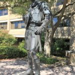 Boy Scout statue in front of BSA headquarters